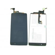 Alcatel One Touch OT-6055K  экран + тачскрин (модуль) черный (в)