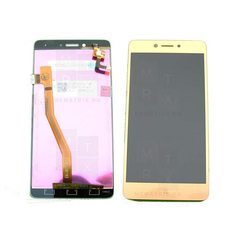 Распродажа Lenovo K6 Note K53A48 тачскрин + экран (модуль) золото (в)
