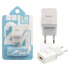 HOCO C22A SET сетевое зарядное устройство с кабелем Micro-USB белое 2.4A