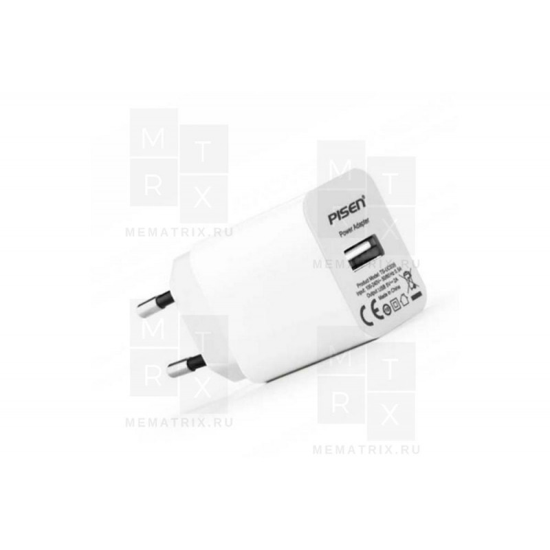 Сетевое зарядное устройство USB Pisen TS-UC035 (2A)