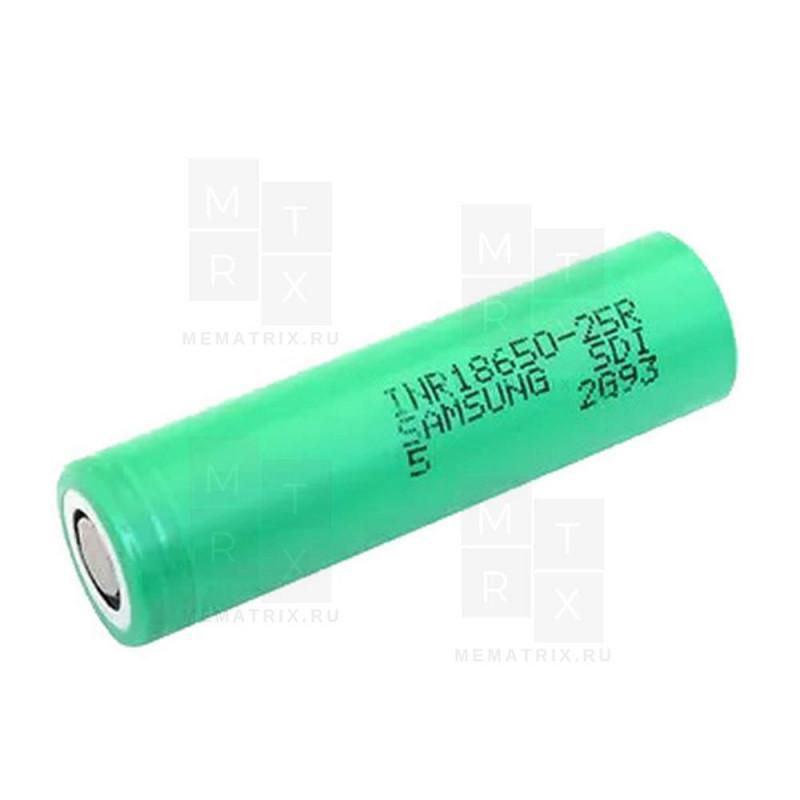 Samsung INR18650-25R 3.7V 2500 mAh (высокотоковая) аккумулятор