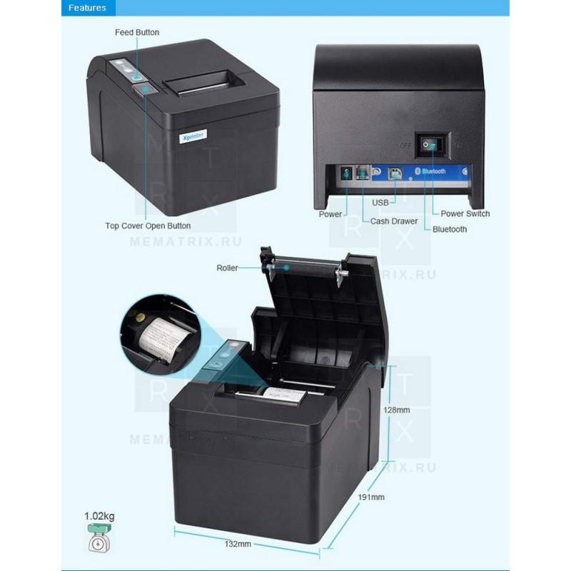 Принтер чеков, термопринтер чеков XP-T58K