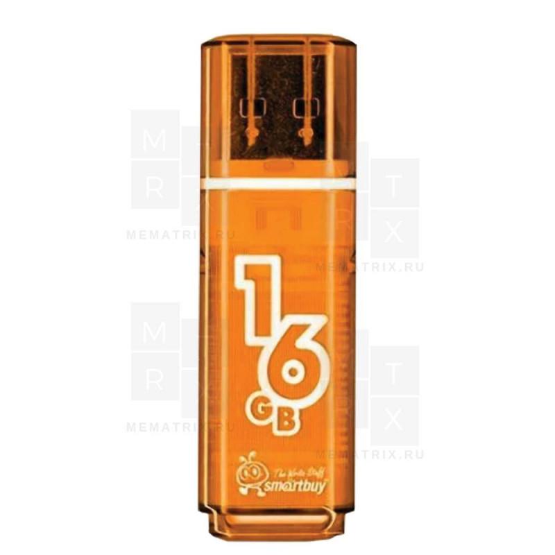 USB флеш-диск 16GB Smart Buy Glossy series Orange (SB16GBGS-Or)