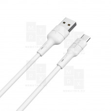 Borofone X30 SILICONE (White) USB - Micro USB 100 см 2.4A кабель
