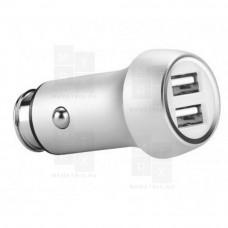 Hoco Z7 автомобильное зарядное устройство серебро 2 выхода 2.4A (в)