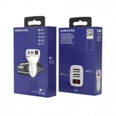 Borofone BZ11 автомобильное зарядное устройство черное 2 выхода 2.1A