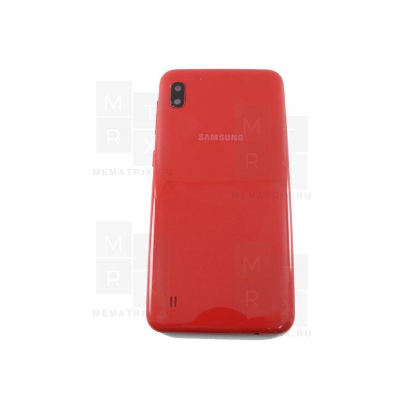 Samsung A10 A105 задняя крышка красная