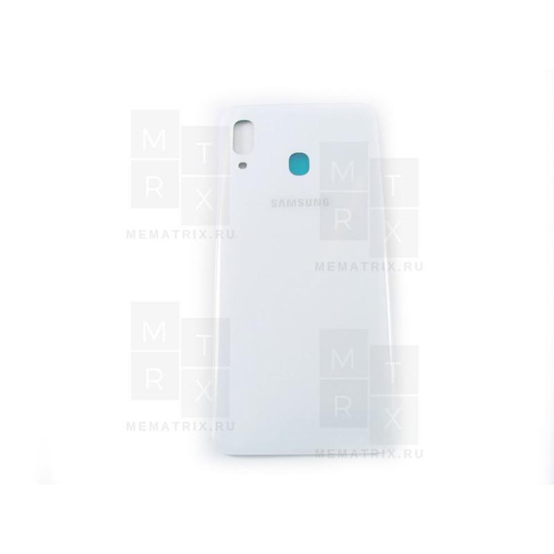 Samsung A30 A305 задняя крышка белая