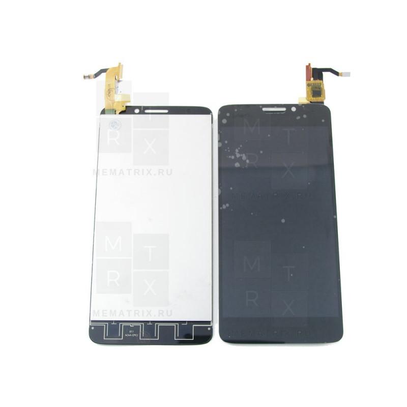 Alcatel OT-6040 экран + тачскрин (модуль) черный (в)