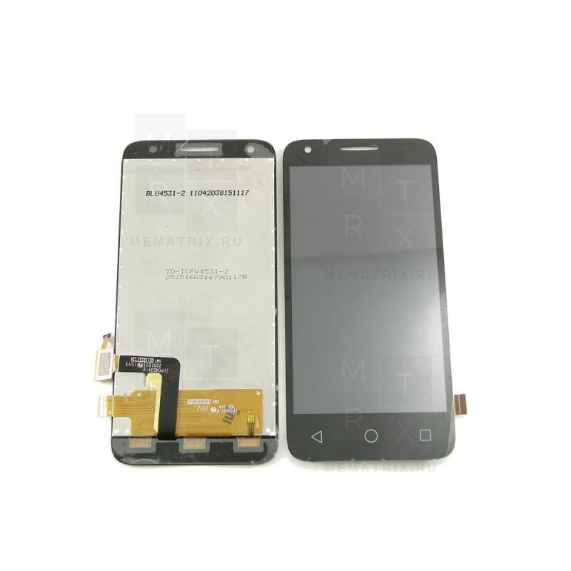 Alcatel 4027D экран + тачскрин (модуль) черный (в)