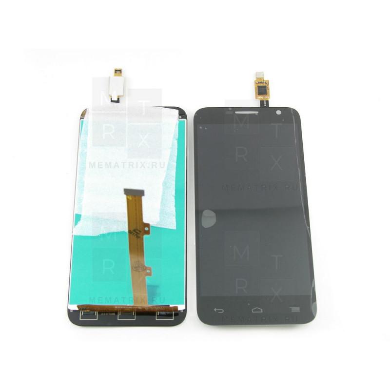 Alcatel  Idol 2 mini OT-6016X / 6016D экран + тачскрин (модуль) черный (в)