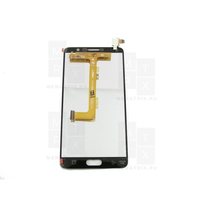 Alcatel OT-5095K экран + тачскрин (модуль) черный (в)