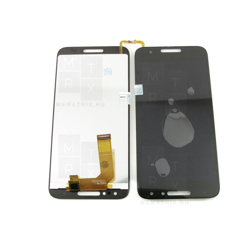 Alcatel 5046D экран + тачскрин (модуль) черный (в)