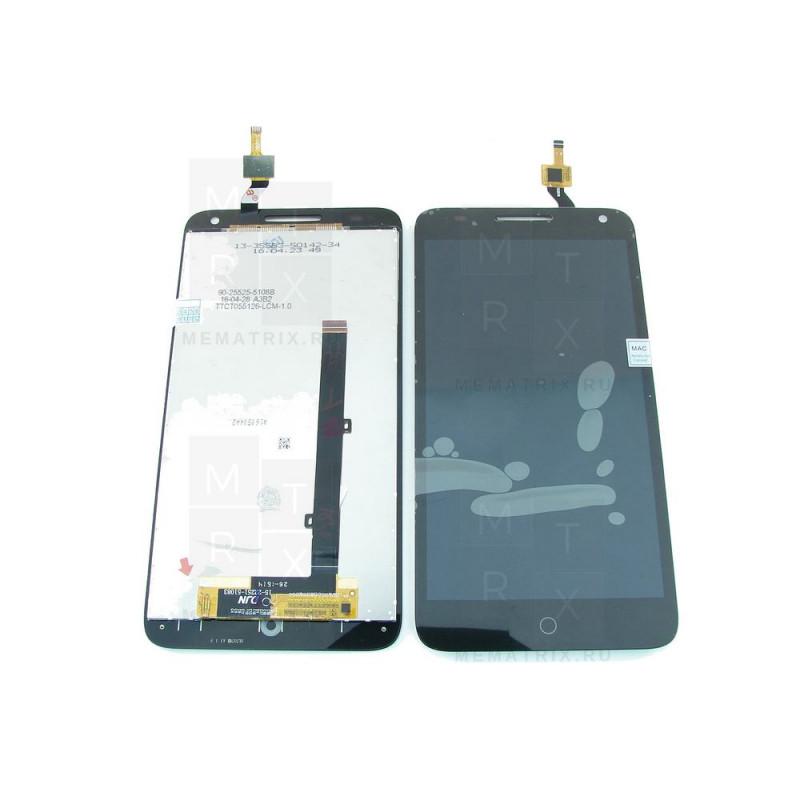 Alcatel OT-5025D POP 3 экран + тачскрин (модуль) черный (в)