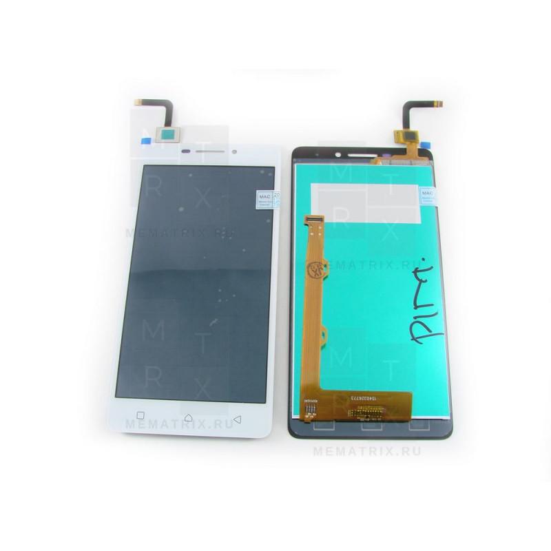 Lenovo Vibe P1m тачскрин+экран (модуль) белый